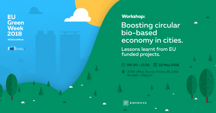 """Boosting circular bio-based economy in cities"" MML workshop, Brussels 22 May 2018 BIOVOICES_Bioeconomy_Workshop_Agenda-740x387.png"