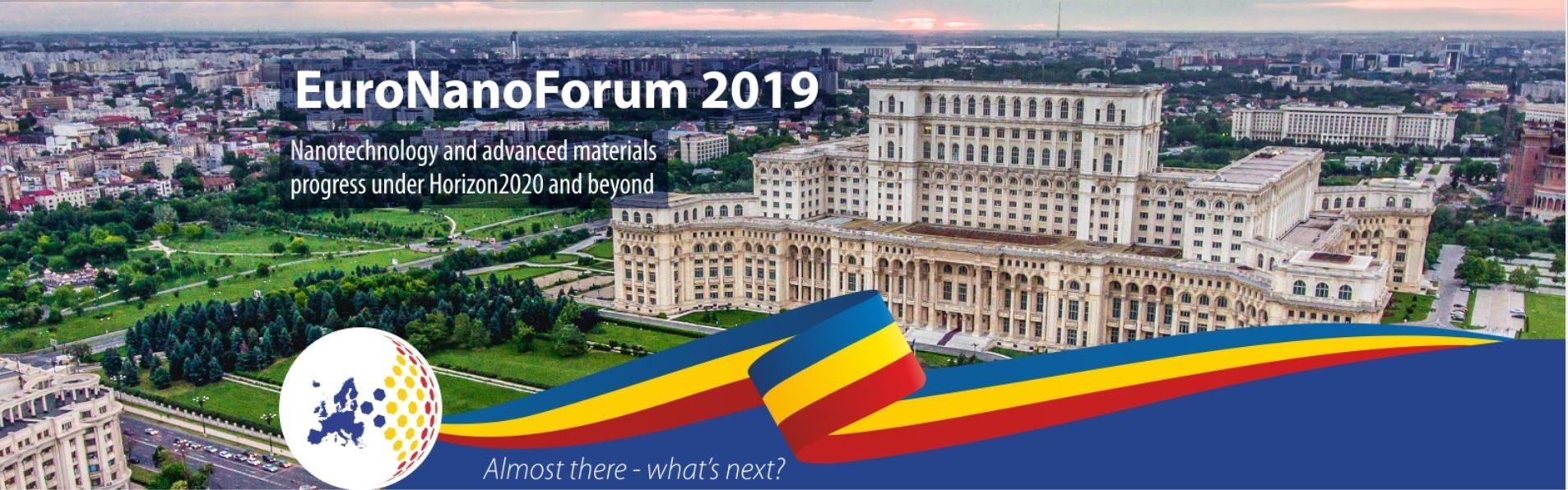 Conferinta  EuroNanoForum 2019 - Nanotechnology and advanced materials progress under Horizon 2020 and beyond euronanoforum.JPG